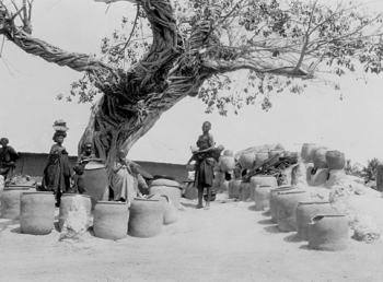 Indigo pots and women dyers