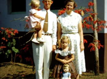 Family; Dad with me, Mom with Becky and Jane, the doll